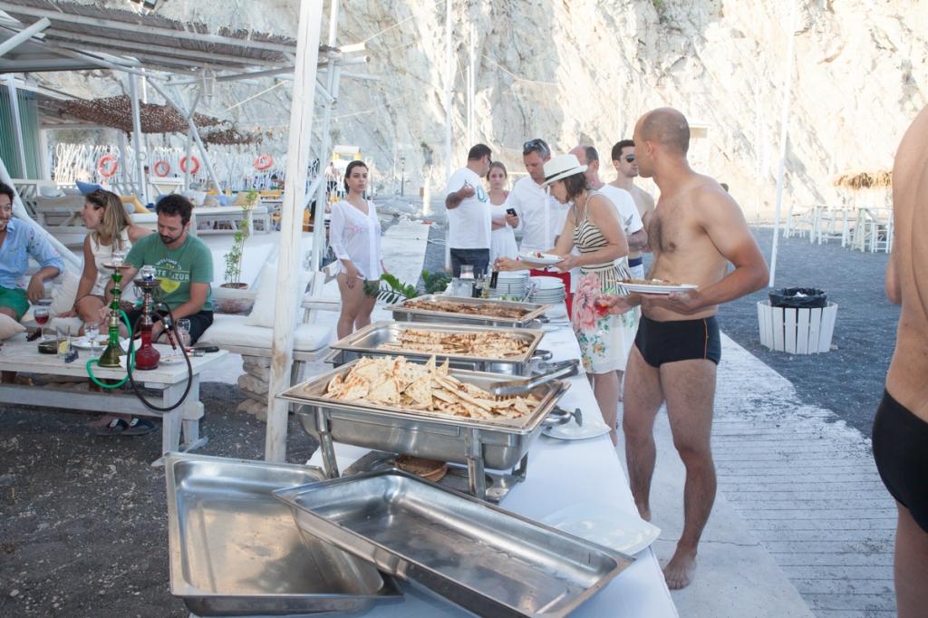 despedida de solteiro em Santorini