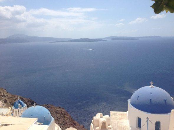 Santorini ilha grega