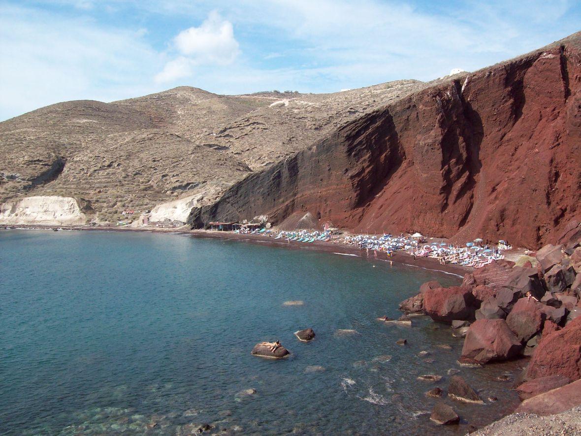 Praia de Vermelha Santorini