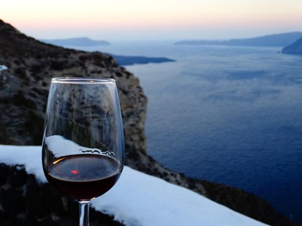 Locais casamento em Santorini venetsanos Winery